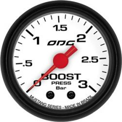 Manometro Boost 3 Bar 52 mm Mustang