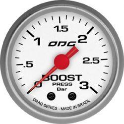 Manometro Boost 3 Bar 52 mm Drag