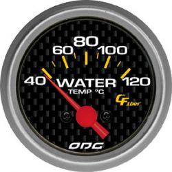 Manômetro Water Temp 52 mm Carbon