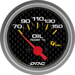 Manômetro Oil Temp 52 mm Carbon