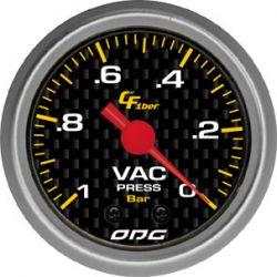 Manômetro Vac 52 mm Carbon