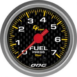 Manometro Fuel 7 Bar 52 mm Carbon