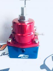 Dosador de Combustível 1:1 para Motores Injetados Entrada e Saída 10AN / AN10 Retorno 6AN / AN6 - Azul e Vermelho
