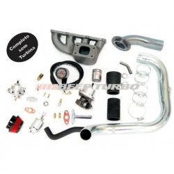 Kit turbo GM - Corsa 1.6 MPFI - coletor ferro fundido s/ SR e DI - S/Turbina