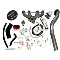 Kit Turbo VW - AP Pulsativo p/ cima - Carburado - 1.8/1.9/2.0 COM TURBINA MASTER POWER .50 (R-474)