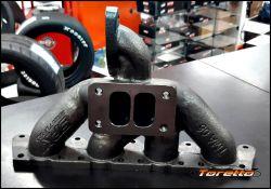 Coletor de escape para turbo Audi A3 / Golf 1.8 20V pulsativo - turbina para cima - T3