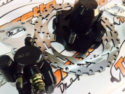 Kit de  freio traseiro  linha volks - com pinça