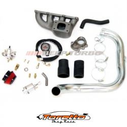 Kit turbo GM - Corsa 1.0 MPFI com coletor ferro fundido S/Turbina