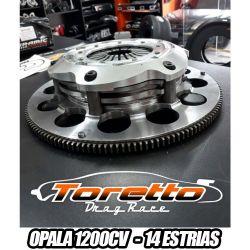 Embreagem Multidisco de Competição  (Opala 4cil e 6cil) 1200cv - 14 ESTRIAS